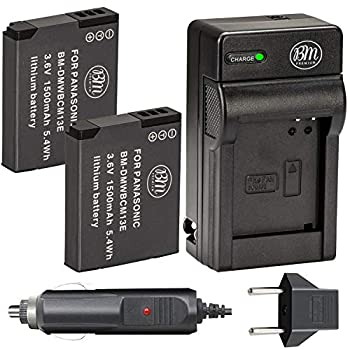 BM Premium Pack of 2 DMW-BCM13E Batteries and Battery Charger for Panasonic Lumix DMC-FT5A DMC-LZ40 DMC-TS5 DMC-TS6 DMC-TZ37 DMC-TZ40 DMC-TZ41 DMC-TZ55 DMC-TZ60 DMC-ZS27 DMC-ZS30 DMC-ZS35 DMC-ZS40 DMC-ZS45 DMC-ZS50 Digital Camera