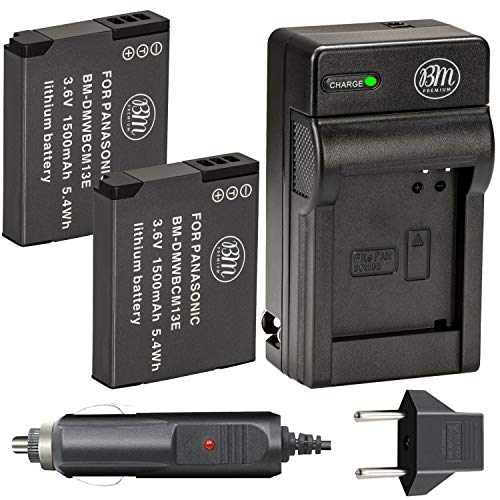 BM Premium Pack of 2 DMW-BCM13E Batteries and Battery Charger for Panasonic Lumix DMC-FT5A, DMC-LZ40, DMC-TS5, DMC-TS6, DMC-TZ37, DMC-TZ40, DMC-TZ41, DMC-TZ55, DMC-TZ60, DMC-ZS27, DMC-ZS30, DMC-ZS35, DMC-ZS40, DMC-ZS45, DMC-ZS50 Digital Camera