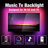 Miume Music Tv Led Backlight With a 13.2ft Is Suitable For 46-55 Inch Tvs. It'S Controlled By App And Remote. Has 160,000 Colors And Can Change Colors With Music. It Can Be Used On Tv, Computers, Room