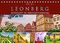 Leonberg - Altstadt in Abendstimmung (Tischkalender 2022 DIN A5 quer): Die historische Altstadt Leonbergs bei Sonnenuntergang (Monatskalender, 14 Seiten )