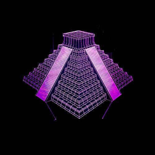 Lámpara Ilusión Óptica 3D, Luz Noche Led, Usb Decoración Lámpara Escritorio, 7 Del Tacto Del Color De La Lámpara, Con Control Remoto, Para Regalos De Niños, Escalera