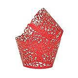 GoodLuck 24 Uds envoltorios Huecos para Cupcakes para Boda, Fiesta de cumpleaños, decoración de Pasteles, Suministros para Baby Shower, Estuches para Vasos de Papel para Magdalenas y Muffins