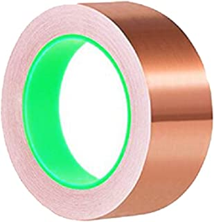 Upgrade!Double-Sided Conductive Copper Foil Tape(2inchx18ft) for Guitar & EMI Shielding, Slug Repellent, Crafts, Electrical Repairs, Grounding,Paper Circuits - Thicker Copper Foil (2inch x 6yards)