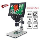 KKmoon G1200 Microscopio Digitale 1X-1200X Lente di Ingrandimento Continua Display LCD ad Alta...