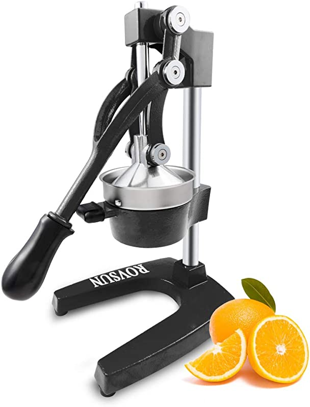 ROVSUN Commercial Grade Citrus Juicer Hand Press Manual Fruit Juicer Juice Squeezer Citrus Orange Lemon Pomegranate Black