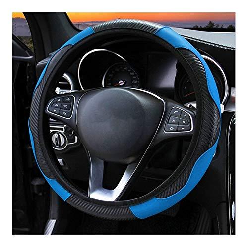 JHSHOP Auto Lenkradhüllen Carbon-Faser-Leder-Auto-Lenkrad-Abdeckung for Hyundai Elantra Tucson Mistra Verna Sonata...