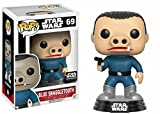 Funko Star Wars Pop! Chase Blue Snaggletooth # 69 Figura de Bobble-Cabeza de Vinilo (Exclusiva de Bounty Smuggler)
