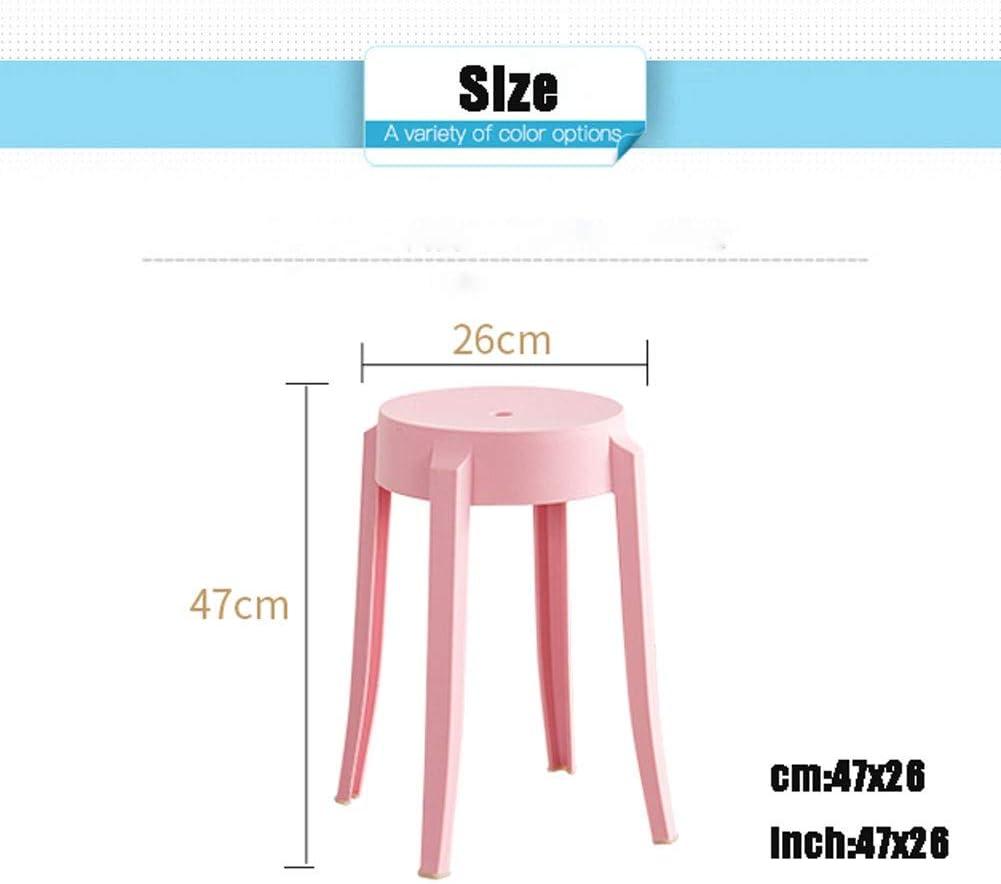 En plastique chaise à manger adulte créatif épaississement dinant la chaise maison mode chaise loisirs chaise balcon chaise (Color : Red) Red