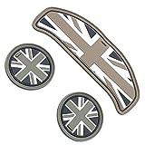 スカイベル(SKYBELL) ドリンク ホルダー コースター BMW MINI 用 アクセサリー グッズ (【F54】3枚 ブラックジャック)