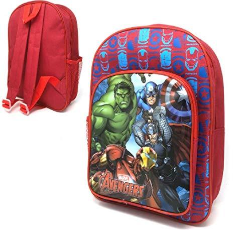 Iron Man Caption America Hulk & Thor Marvel Avengers Backpack Rucksack School Travel Bag with Extra Front Pocket, 31cm