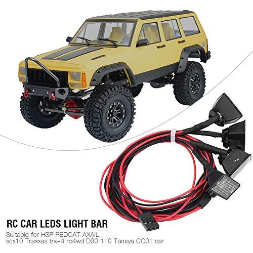 Dilwe Fernbedienung Crawler LEDs Lichtleiste Dachleuchten Zubehör für Axial scx10 Traxxas TRX-4 Auto( Weiß)