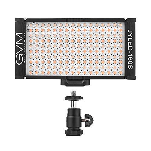 Lepeuxi GVM 160 LED Dimmerabile Ultra High Power Bi-color Temperatura 2300K-6800K Panel Light on Digital Videocamera Camcorder DSLR Video Light per Canon Nikon Sony Panasonic Olypus Lighting