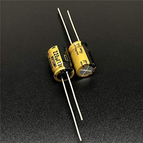 5PCS 220uF 10V FG(Fine Gold)8x11.5mm 10V220uF MUSEトップグレードオーディオコンデンサー