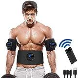 Electroestimulador Muscular Abdominales, Estimulador Eléctrico Cinturón con USB, Estimulación Muscular Estimulador Eléctrico Cinturón Abdomen/Brazo/Piernas/Glúteos, EMS Estimulación ABS Trainer para