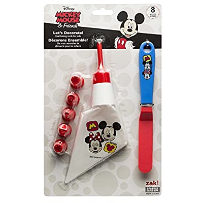 Zak Designs Mickey & Minnie Mouse Frosting Bag and 6 Tips for Cooking with Kids, Mickey & Minnie