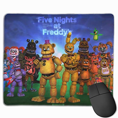Gaming Mouse Pad with Stitched Edge, Portable Laptop Mouse Mat Optimized for Precise Operating, FNAF Music Character Collection Poster Poster Keyboard Pad for Boys Game