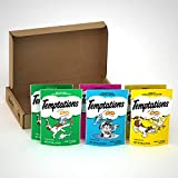 TEMPTATIONS Classic Crunchy and Soft Cat Treats Feline Favorites Variety Pack, (6) 3 oz. Pouches