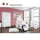 Babyzimmer Enni in weiss 10 tlg. mit 2 türigem Kl. + Textilien von Marienkäfer
