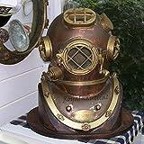 Max Engineering Enterprises Scuba Diving Divers Helmet U.S Navy Mark V Original Antique 18' Deep Sea Diver's...