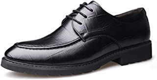 Men's Oxford Leather Dress Shoes for Business Casual Lace-up
