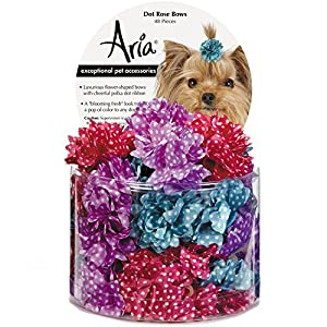 Aria Dot Rose 48 Piece Bows for Dogs