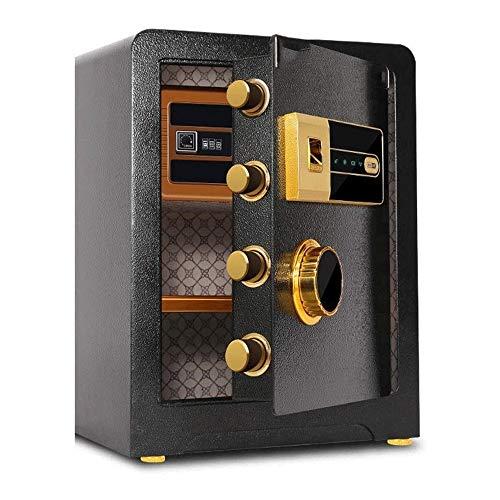 ZQY Fingerabdruck-Passwort Wand-Tresor Haushalt Stahl Versicherung Alarmanlage Büro Storage Box (Color : B)