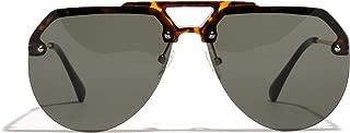 Women's Sunglasses, Oversized Half Frame Cat Eyes Transparent Lens Novelty Sunglasses for Women 2019 New