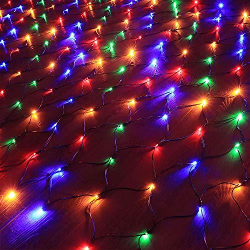 WQEM Led String Lights Decorative Battery Powered String Lights, enbrighten Cafe Wire Light for Bedroom,Wedding Light String(1.5m×1.5m Lights,100 Lights)