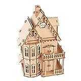 Zerodis Manual de ensamblaje de Juguetes de Madera Modelo Mockup 3D Villa gótica Villa para niños y Adultos Mayores de 6 años