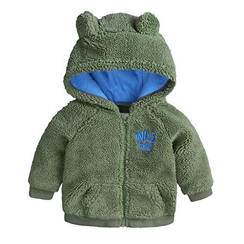 Forver Girl Boy Top Blouses,Newborn Baby Boys Girl Cartoon Bear Letter Long Sleeve Warm Hooded Coat Snowsuit