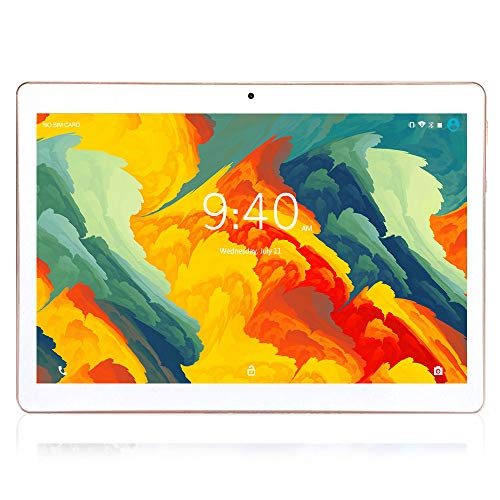Tablet 10 Pulgadas 4G LTE WIFI BEISTA,Android 9.0 tableta,4GB RAM 64GB ROM,Quad-core,Full HD display,GPS,Bluetooth,OTG(Oro)