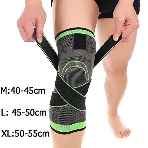 Tmalltide, komfortable und atmungsaktive Kompressions-Kniestütze, Unterstützung bei Gelenkschmerzen und Linderung von Arthritis, verstellbare Kompressionsgurte. Verbesserte Kreislaufkompression