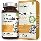 Comprimidos Vitamina B12 1000 μg Nutritrust - 400% Más Vitamina B12 que Otras Marcas –...