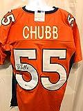 Bradley Chubb Denver Broncos Signed Autograph Custom Jersey Orange Beckett Witnessed Certified