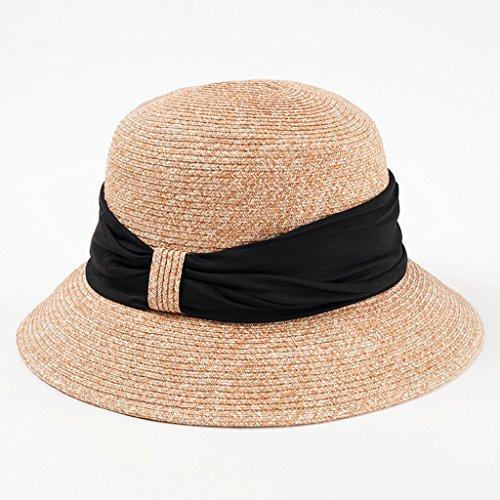 Hoed Straw vrouwelijke zomer opvouwbare zee zonnebrandcrème winddicht strand zonnekap zonnebank cap QIQIDEDIAN