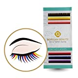 BEYELIAN ORCHID Colorful Varicolored Individual Eyelash Extensions as Highligher or Full Set Application C Curl 0.20mm 10mm