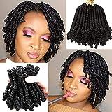 Best Hair For Crochet Braids - 8 Packs Short Spring Twist Crochet Hair 6Inch Review
