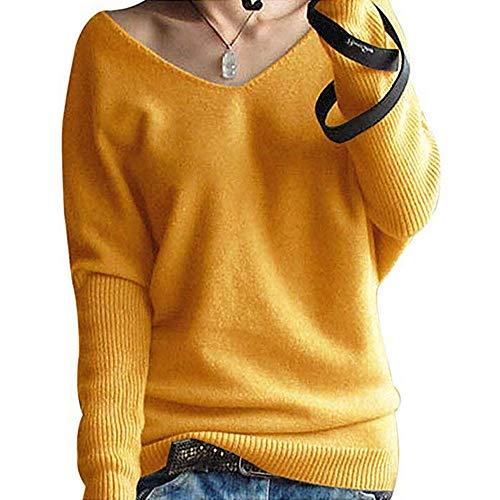 FRAUIT Maglioni Donna Invernali Eleganti Lunghi Sexy Pullover Donna Invernale Oversize Scollo V Primavera Maglieria Taglie Forti Cappotto Lungo Maglie Particolari Maglione Donna Invernale Morbido