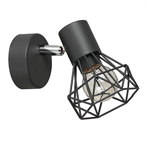 MiniSun - Precioso aplique de pared 'Gabbia' vintage - lámpara con pantalla...