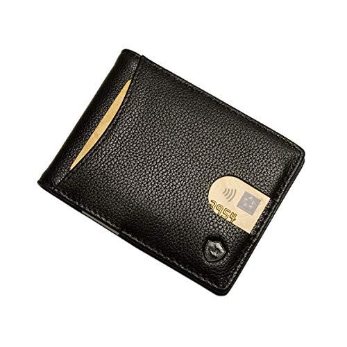 SECUREFY SECUREFY® fold - TÜV zertifiziertes RFID Slim Wallet - Kreditkartenetui aus hochwertigem Leder mit Geldklammer für bis zu 10 Karten - Nappa Leder - Schwarz