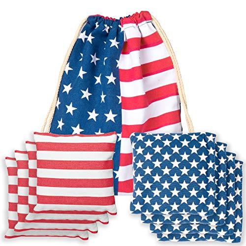 Weather Resistant Cornhole Bean Bags Set of 8 - Regulation Size &...