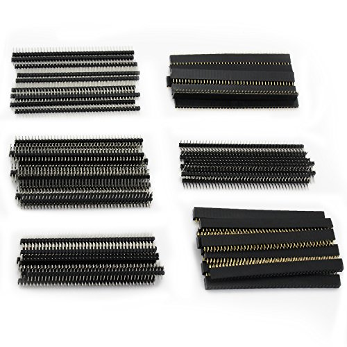 Amazon.co.uk - Female Single Row Straight Pin Header Pitch 2.54mm