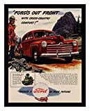 8 x 10 Photo Print Ford_Out_Front_with_Cross_Country_Comfort_1946 Vintage Old Advertising Campaign Ads
