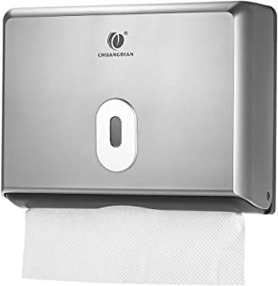 Goolsky Wall-mounted Bathroom Tissue Dispenser Tissue Box Holder for Multifold Paper Towels