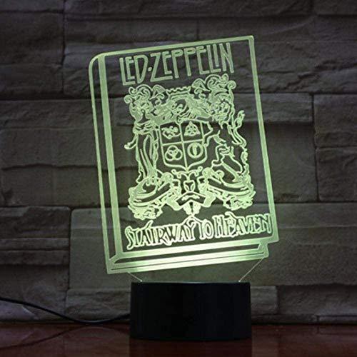 Led-nachtlampje 3D illusie lamp muziek Engels rok band LED boek voor Home Office Room Decoration Cool cadeau voor fans