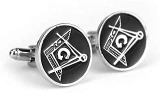 Le Jewelbox formelle Chemise Cheval brillant rhodium plaqu/é or carr/é Noir Boutons de manchette Paire gar/çon pour homme Coffret cadeau