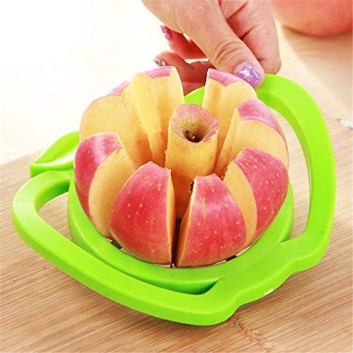 MXECO Dispositivo de fruta cortada en acero inoxidable con forma de manzana Manzana Cortadora en rodajas Manzanas Divisores Cuchillo Cocina Herramientas de cocina