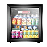 Silk Road Mini Refrigerador • Refrigerador • Enfriador • 50 litros • Temperatura Ajustable En 5 Etapas • Clase Habitaciones De Hotel O Dormitorios • Puerta De Vidrio Transparente • Plata