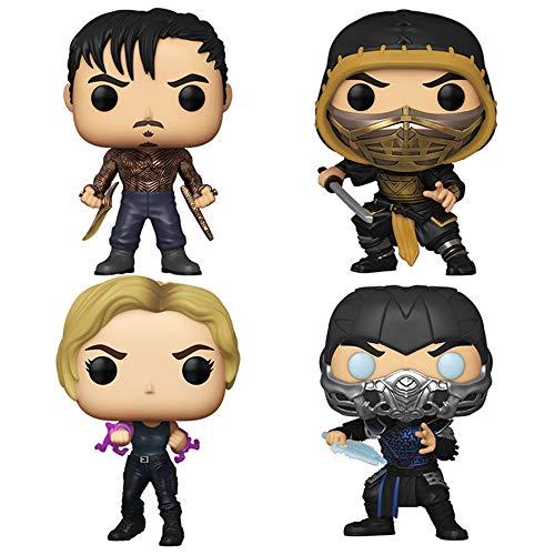 Funko Pop! Movies Video Games Mortal Kombat Set of 4: Cole Young, Scorpion, Sonya Blade and Sub-Zero (Metallic)