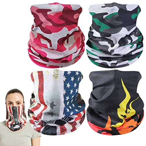 Mens Seamless Bandana Face Balaclava UV Protection Face Cover Summer Cooling Headband Magic Half Face Mask Cover Scarf Neck Gaiter for Dust Wind Best Gift for Fishing Cycling Running Face Mask Scarf